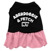 Mirage Pet Products Aberdoggie NY Dresses Black with Pink Lg (14)