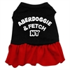 Mirage Pet Products Aberdoggie NY Dresses Black with Red XXL (18)