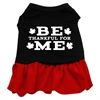 Mirage Pet Products Be Thankful for Me Screen Print Dress Black with Red XS (8)