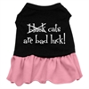 Mirage Pet Products Black Cats are Bad Luck Screen Print Dress Black with Pink XXXL (20)