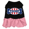 Mirage Pet Products Bonely in America Screen Print Dress Black with Pink XS (8)