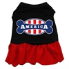 Mirage Pet Products Bonely in America Screen Print Dress Black with Red XXL (18)