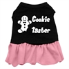 Mirage Pet Products Cookie Taster Screen Print Dress Black with Pink Med (12)