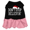 Mirage Pet Products Don't Stop Believin' Screen Print Dress Black with Pink XXXL (20)