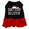 Mirage Pet Products Don't Stop Believin' Screen Print Dress Black with Red XS (8)
