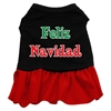 Mirage Pet Products Feliz Navidad Screen Print Dress Black with Red XXL (18)