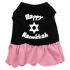 Mirage Pet Products Happy Hanukkah Screen Print Dress Black with Pink Lg (14)