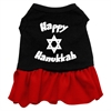 Mirage Pet Products Happy Hanukkah Screen Print Dress Black with Red XS (8)