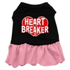 Mirage Pet Products Heart Breaker Dresses Black with Pink XXL (18)