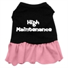 Mirage Pet Products High Maintenance Dresses Black with Pink Lg (14)
