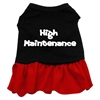 Mirage Pet Products High Maintenance Dresses Black with Red Lg (14)