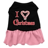 Mirage Pet Products I Love Christmas Screen Print Dress Black with Pink XXL (18)