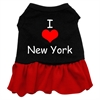 Mirage Pet Products I Heart New York Screen Print Dress Black with Red Med (12)