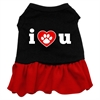 Mirage Pet Products I Heart You Dresses Black with Red XXL (18)
