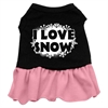 Mirage Pet Products I Love Snow Screen Print Dress Black with Pink Lg (14)