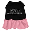 Mirage Pet Products I really did eat the Homework Screen Print Dress Black with Pink XS (8)