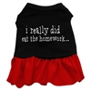 Mirage Pet Products I really did eat the Homework Screen Print Dress Black with Red Sm (10)