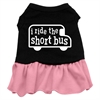 Mirage Pet Products I ride the short bus Screen Print Dress Black with Pink Sm (10)