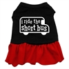 Mirage Pet Products I ride the short bus Screen Print Dress Black with Red Lg (14)