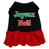 Mirage Pet Products Joyeux Noel Screen Print Dress Black with Red Med (12)