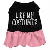 Mirage Pet Products Like my costume? Screen Print Dress Black with Pink XS (8)