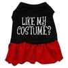 Mirage Pet Products Like my costume? Screen Print Dress Black with Red XS (8)