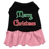 Mirage Pet Products Merry Christmas Screen Print Dress Black with Pink XXL (18)