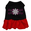 Mirage Pet Products Pink Snowflake Screen Print Dress Black with Red XXXL (20)