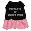 Mirage Pet Products Property of North Pole Screen Print Dress Black with Pink Sm (10)