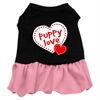 Mirage Pet Products Puppy Love Dresses Black with Pink Sm (10)