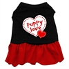 Mirage Pet Products Puppy Love Dresses Black with Red Med (12)