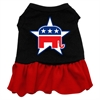 Mirage Pet Products Republican Screen Print Dress Black with Red XS (8)