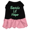 Mirage Pet Products Santa's Lil Helper Screen Print Dress Black with Pink Lg (14)