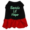 Mirage Pet Products Santa's Lil Helper Screen Print Dress Black with Red Lg (14)