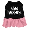 Mirage Pet Products Shed Happens Screen Print Dress Black with Pink XL (16)