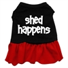 Mirage Pet Products Shed Happens Screen Print Dress Black with Red XS (8)