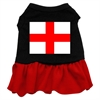 Mirage Pet Products St. Georges Cross Screen Print Dress Black with Red Lg (14)