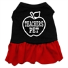 Mirage Pet Products Teachers Pet Screen Print Dress Black with Red Sm (10)