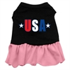 Mirage Pet Products USA Star Screen Print Dress Black with Pink XXL (18)