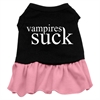 Mirage Pet Products Vampires Suck Screen Print Dress Black with Pink XXL (18)