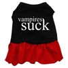 Mirage Pet Products Vampires Suck Screen Print Dress Black with Red XS (8)