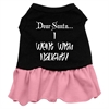Mirage Pet Products Went With Naughty Screen Print Dress Black with Pink Lg (14)