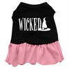 Mirage Pet Products Wicked Screen Print Dress Black with Pink Med (12)