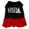 Mirage Pet Products Wicked Screen Print Dress Black with Red XL (16)