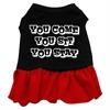 Mirage Pet Products You Come, You Sit, You Stay Screen Print Dress Black with Red XL (16)