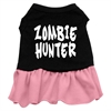 Mirage Pet Products Zombie Hunter Screen Print Dress Black with Pink XXL (18)