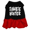 Mirage Pet Products Zombie Hunter Screen Print Dress Black with Red XXL (18)