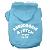 Mirage Pet Products Aberdoggie NY Screenprint Pet Hoodies Baby Blue Size XS (8)