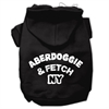Mirage Pet Products Aberdoggie NY Screenprint Pet Hoodies Black Size XS (8)