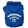 Mirage Pet Products Aberdoggie NY Screenprint Pet Hoodies Blue Size XS (8)